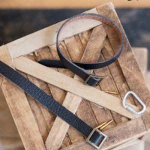 Action Man Black Leather Belt